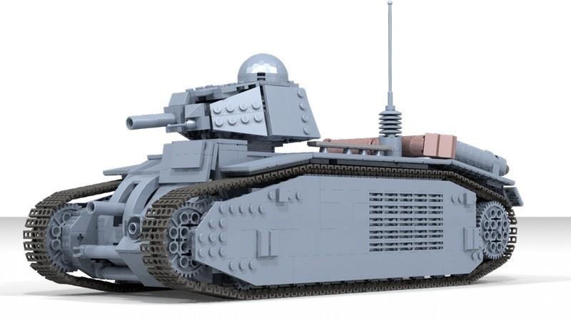 Lego Tank Char B1 Bis