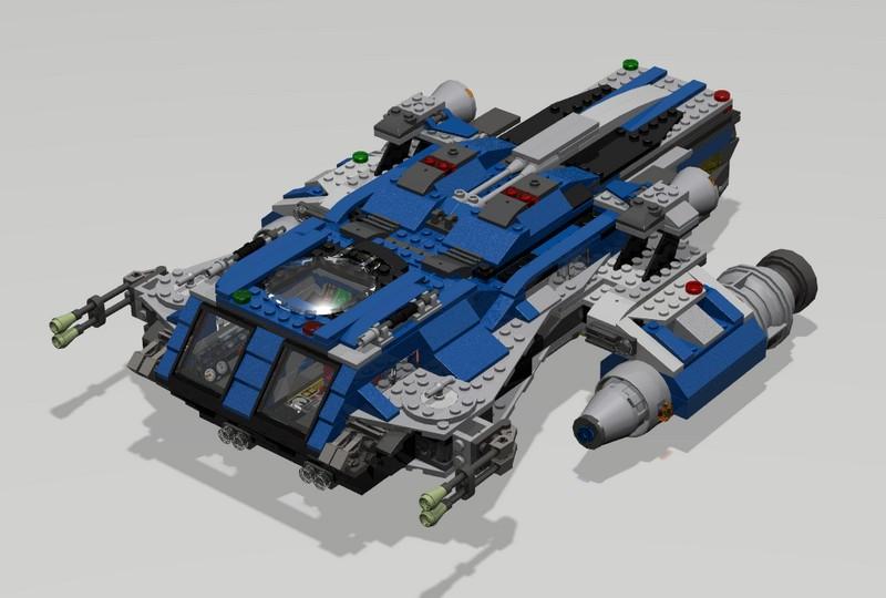 Lego Vantage Light Utility Starship MOC