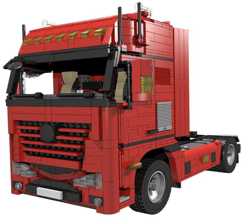 lego mercedes actros 4 x 2 semi truck i. Black Bedroom Furniture Sets. Home Design Ideas