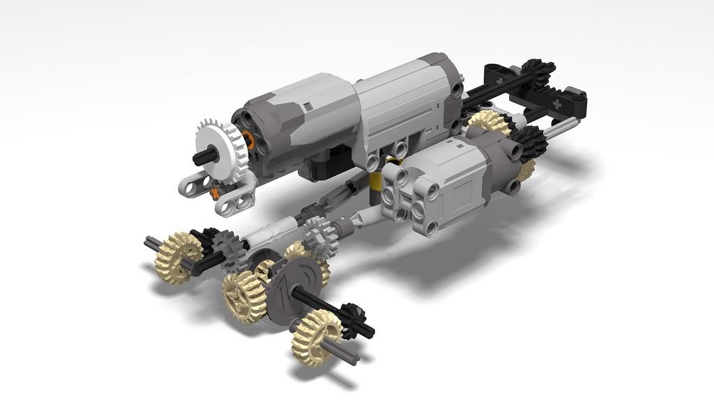 Lego Technic Mitsubishi Pajero MOC c SBrick<