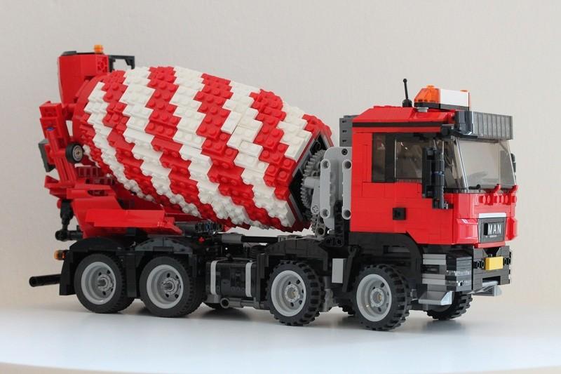 Lego MAN TGS 8×4 Cement Truck MOC RC
