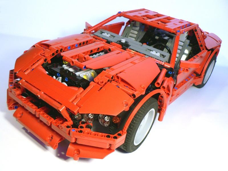 Lego Technic – Red Coupé V12 MOC