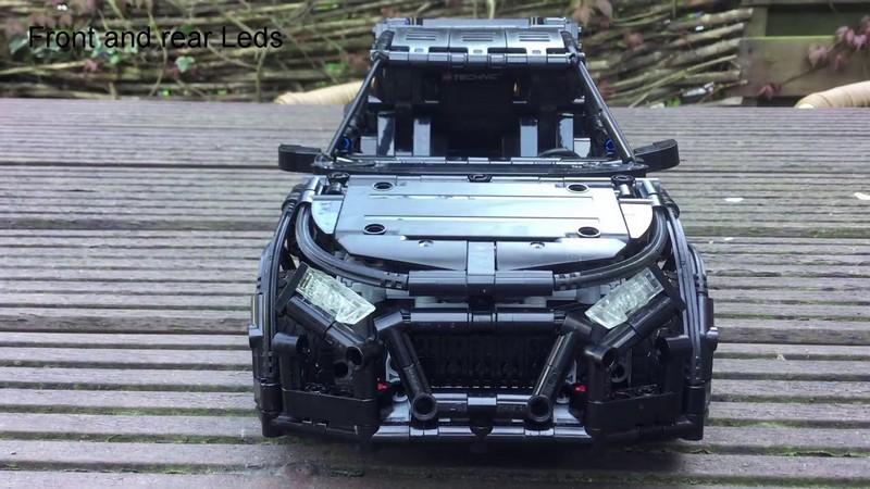Lego Technic RC Audi rally car with BuWizz 2.0 MOC