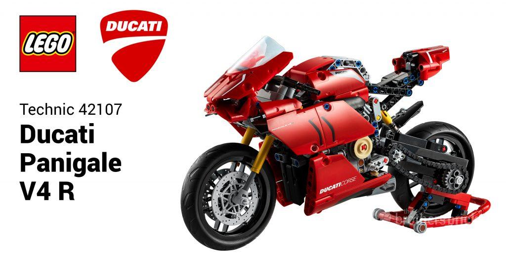 Мотоцикл LEGO Technic 42107 Ducati Panigale V4 R представлен как новейший супербайк