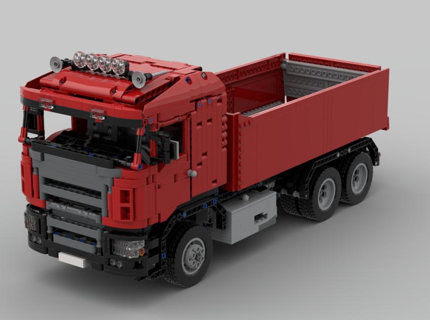 Lego Red Scania Dump Truck