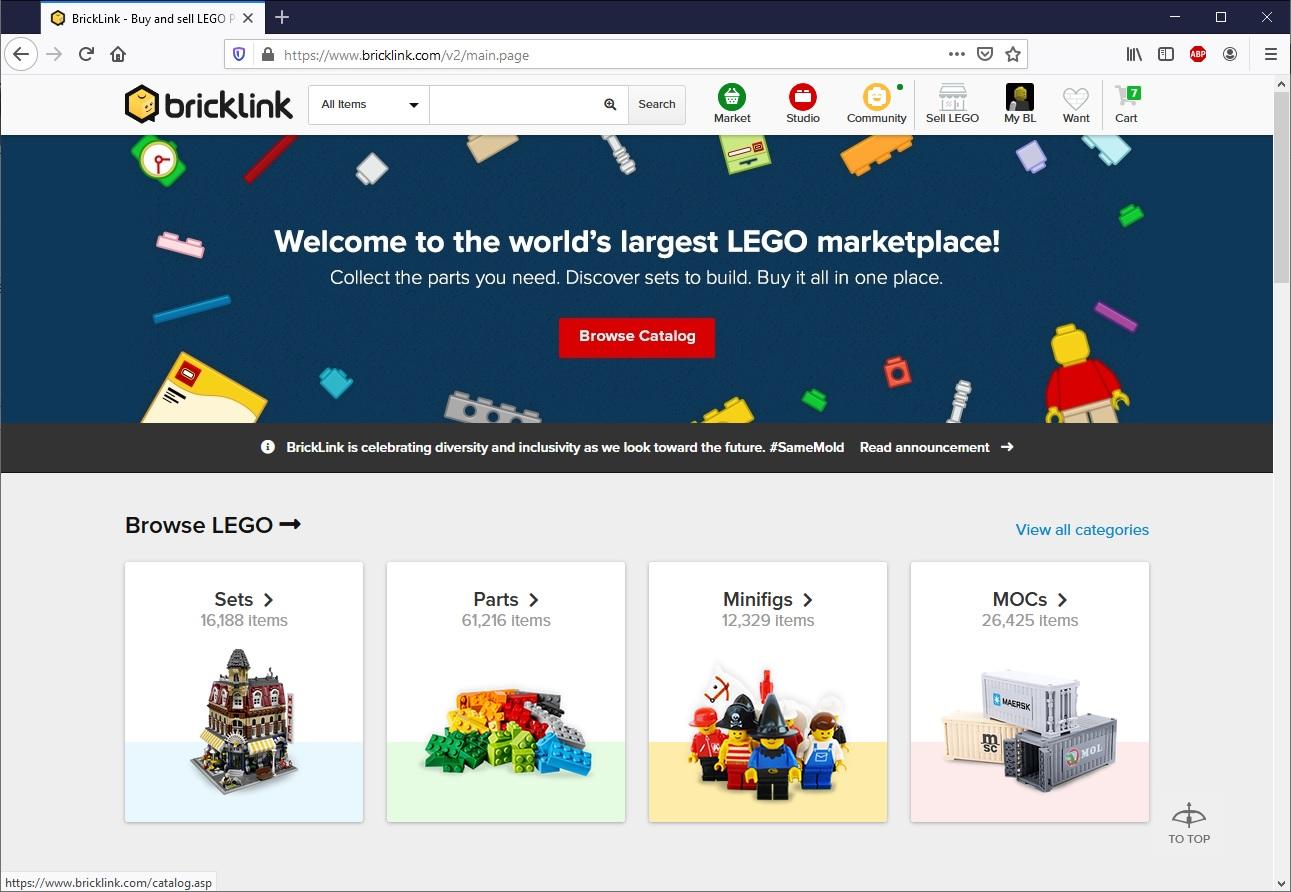 Как загрузить список деталей на BrickLink