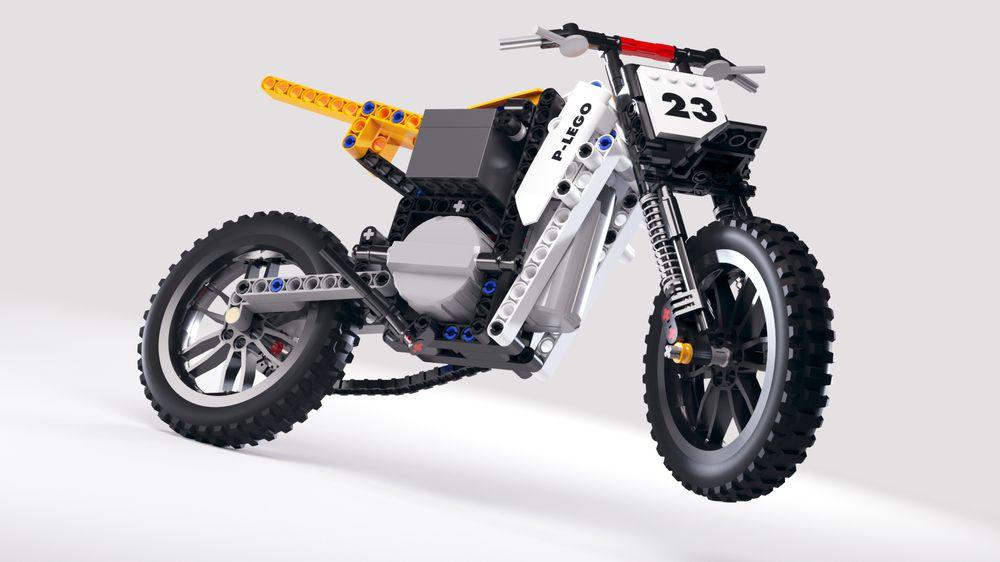Lego Technic Motocross Bike (Self-balancing RC motorcycle)